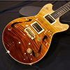 T's Guitars ArcHollow 5A Figured Maple Top  BrownFade