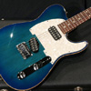 TOM ANDERSON 2014 Hollow T Classic contoured Alder - Bora to Transparent Blue Burst with Binding -