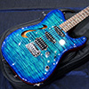 T's Guitars TL-Hollow Deluxe Rosewood Neck - Atlantic Blue Breeze -【BUG Special Order】