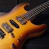 SAITO GUITARS S-622 HSH Alder with abalone position Mark - Burnt -